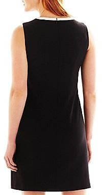 JCPenney 9 & Co.® Banded Crepe Shift Dress