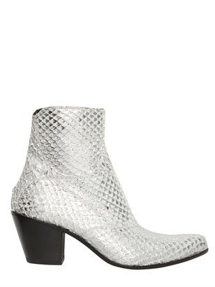 Gianni Barbato 70mm Snakeskin Low Boots