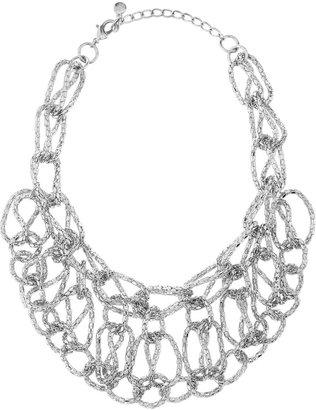 Fragments for Neiman Marcus Chain Bib Necklace, Rhodium