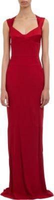Narciso Rodriguez Fitted Sweetheart Gown