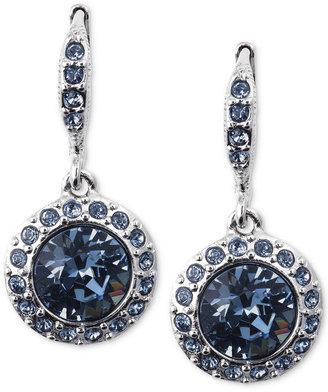 Givenchy Earrings, Silver-Tone Swarovski Denim Blue Glass Stone Drop Earrings