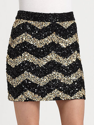 Alice + Olivia Leigh Sequined Skirt