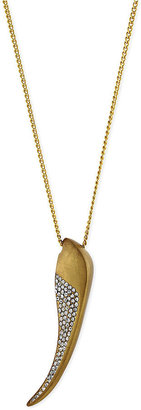 Vince Camuto Gold-Tone Crystal Claw Pendant Necklace