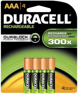 Duracell Rechargeable AAA Batteries, 4 ct