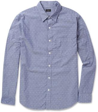 J.Crew Dotted Cotton-Chambray Shirt