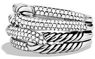 David Yurman Labyrinth Double-Loop Ring with Diamonds