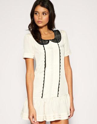 Asos Cute Collar Trim Drop Smock Dress