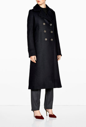 Vanessa Bruno Drap De Laine Compact Long Trench Coat