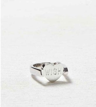 American Eagle AEO Etched Heart Ring