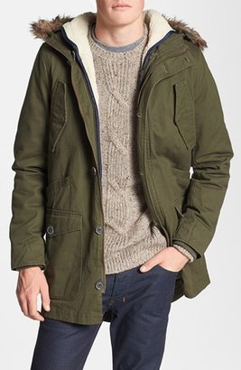 Topman Cotton Hooded Parka