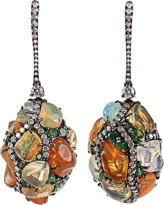 Arunashi Fire Opal Egg Drop Earrings