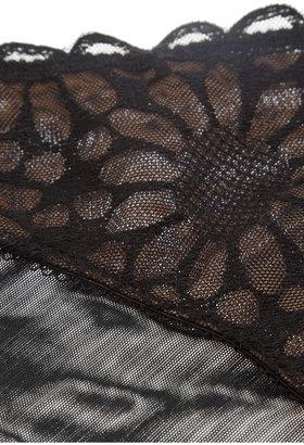 Elle Macpherson Intimates Dune Sunflower embroidered stretch-tulle briefs
