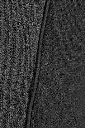 LnA Matteo mesh-paneled cotton-blend sweater
