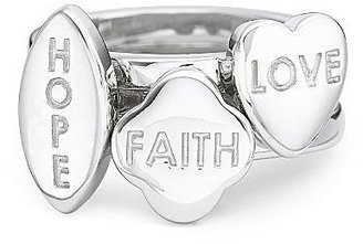 JCPenney Silver Love Hope Faith Stackable Rings No Color