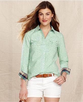 Tommy Hilfiger Shirt, Long-Sleeve Printed