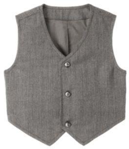 Janie and Jack Herringbone Button Tab Suit Vest