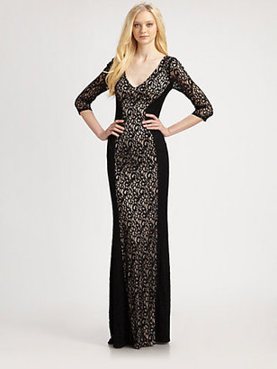 David Meister Corded Lace Gown