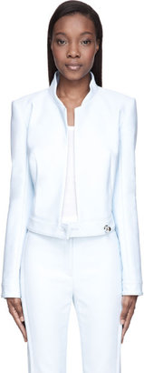 Thierry Mugler Baby Blue Stand Collar Jacket
