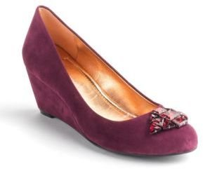 BCBGeneration Treese Suede Wedge Pumps