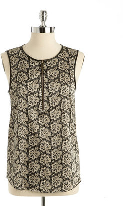 Vince Camuto Floral Print Shell