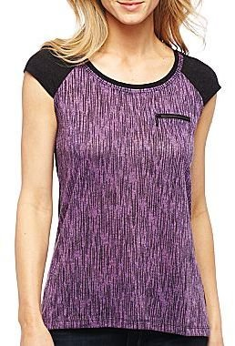 JCPenney a.n.a® Zip Pocket Tee - Tall