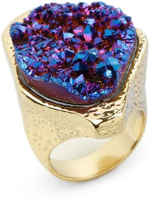 C. Wonder Large Druzy Stone Studded Ring