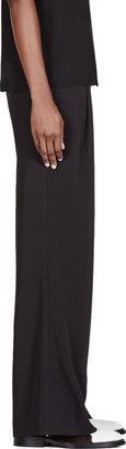Altuzarra Black Wide Leg Pleated Trousers