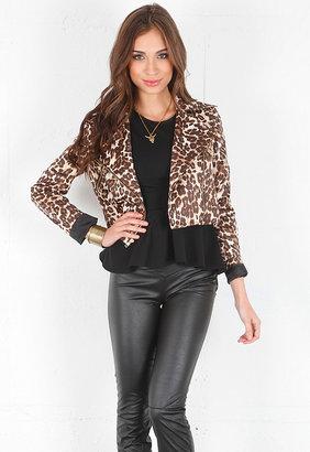 Naven Leopard Moto Jacket in Leopard