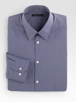 Theory Micro Stripe Dress Shirt