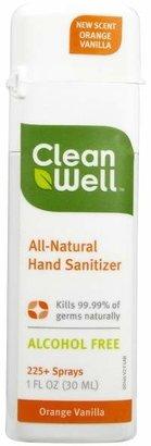 CleanWell Orange Vanilla Natural Sanitizer by 1oz Spray)