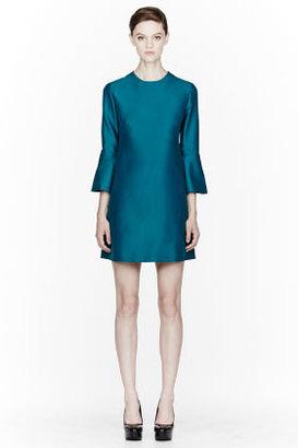 Stella McCartney Teal Silk Faille Dress