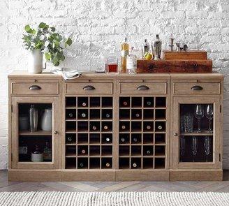 Pottery Barn Modular Bar Extra Wide Buffet