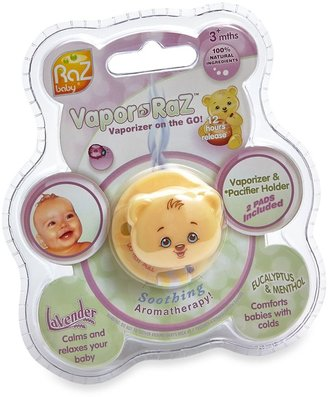 Razbaby Vapor-RaZ Clip and Pacifier Holder with Menthol/Eucalyptus and Lavender Pads
