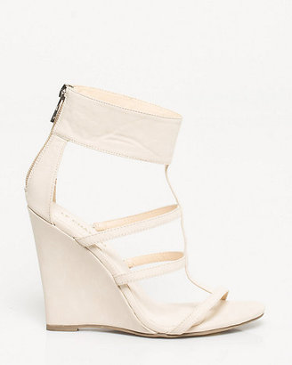 Le Château Faux Leather Ankle Cuff Wedge