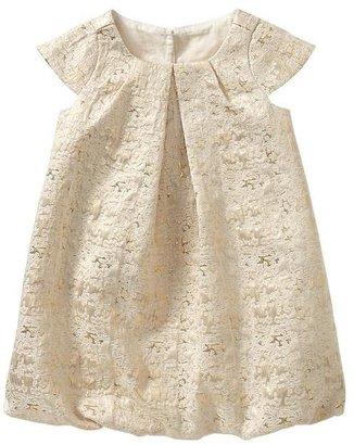 Gap Metallic jacquard pleated dress