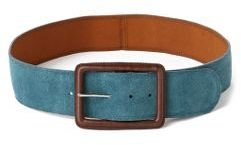 Anthropologie Dusk-Blue Suede Belt