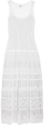 Philosophy di Alberta Ferretti Pointelle-knit cotton maxi dress