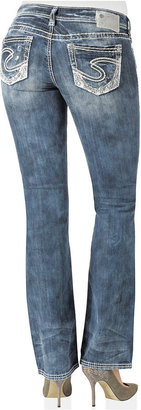 Silver Jeans Juniors' Jeans, Aiko Bootcut, Destroyed Light Wash