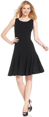 Calvin Klein Sleeveless Pleated A-Line Dress