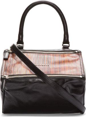 Givenchy Black Wood Paneled Small Pandora Bag