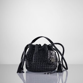 Ralph Lauren Woven Leather Cross-Body Bag