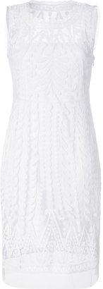 Catherine Malandrino White Moon Lace Applique Dress