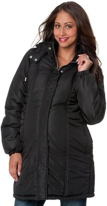 Oh Baby by motherhood hooded puffer coat - maternity