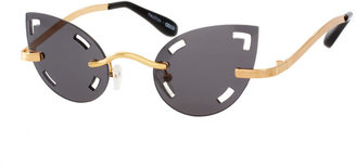 Asos Mauricio Stein For Handmade Cat Eye Sunglasses With Cut Out Lens
