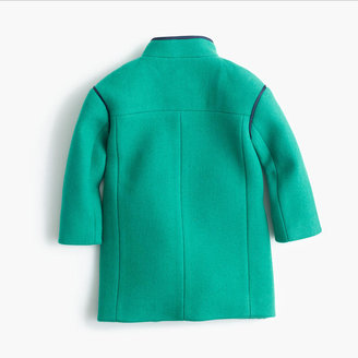 J.Crew Girls' stadium-cloth bow coat