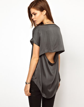 2nd Day Silk Tee With Dipped Back