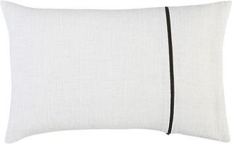 "CB2 Zipper White 18""X12"" Pillow"