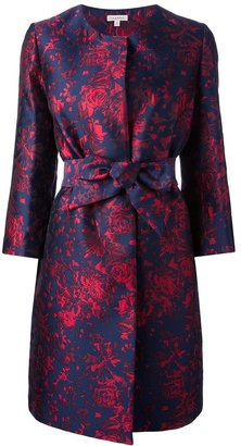 P.A.R.O.S.H. f'Rosard' loral print belted coat