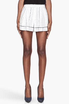 3.1 Phillip Lim White silk piped Pajama Shorts