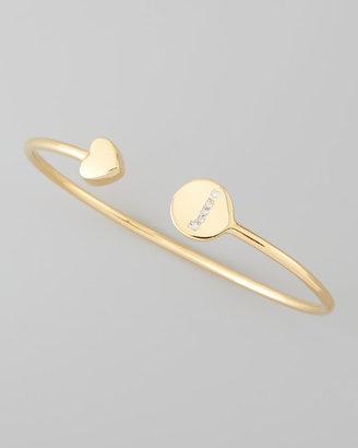 Sarah Chloe Gold & Pave Diamond Initial Bracelet, Gold
